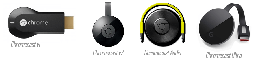 chromecast variants